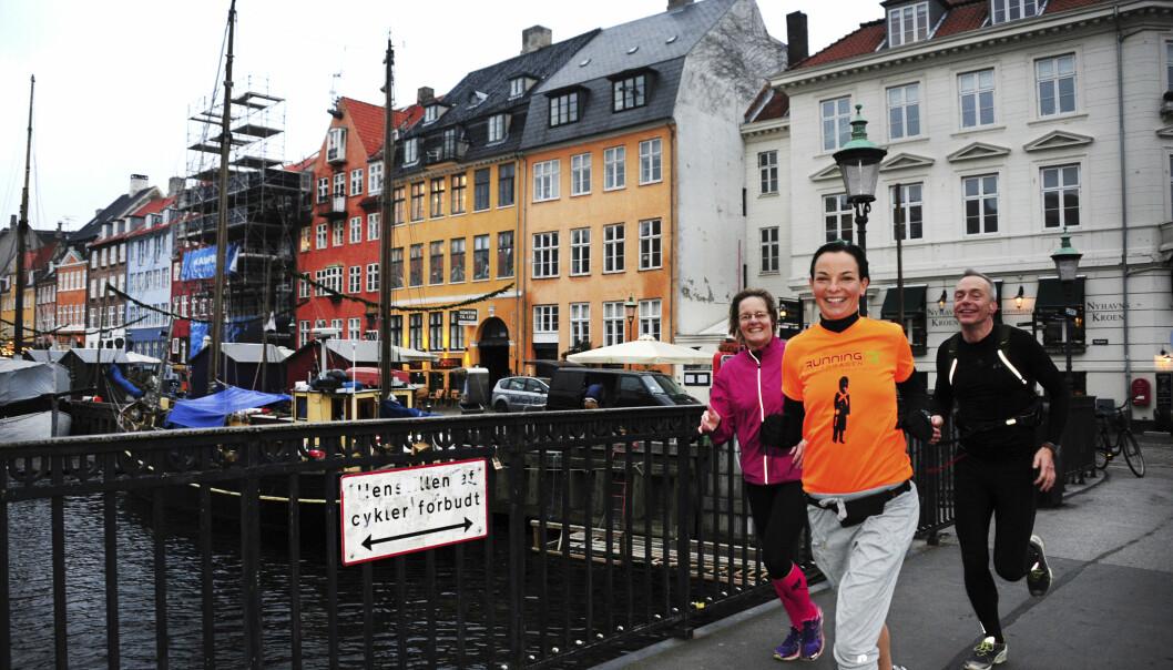 <strong>SIGHTJOGGING:</strong> Du kan løpe rundt i København med egen guide. Foto: Torild Moland / Magasinet Reiselyst