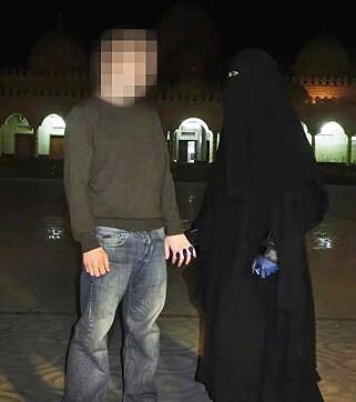 NORSKE VENNER: Dette ekteparet fra Levanger og Verdal - etnisk norske konvertitter - dro til Syria for å slutte seg til IS kort tid før 34-åringen. Mannen ble drept i 2015, mens kvinnen fremdeles skal befinne seg med IS. Foto: Privat