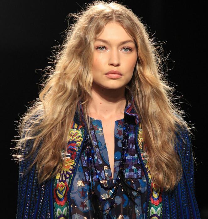 SODA CREAM BLOND: Håret til Gigi er noe mange drømmer om akkurat nå. FOTO: NTB Scanpix