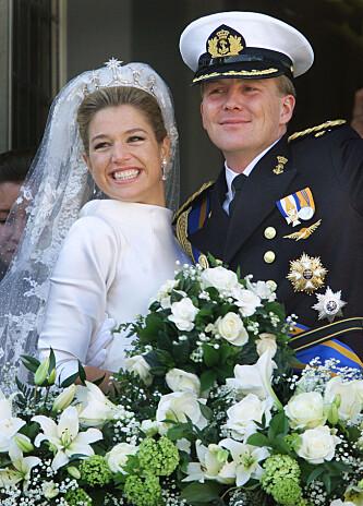 LYKKELIGE: Máxima og Willem-Alexander giftet seg i 2001. Foto: NTB Scanpix