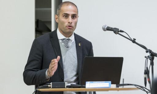 «MUSLIM LIGHT»: Mahmoud Farahmand (H), styreleder i LIM. Foto: NTB Scanpix