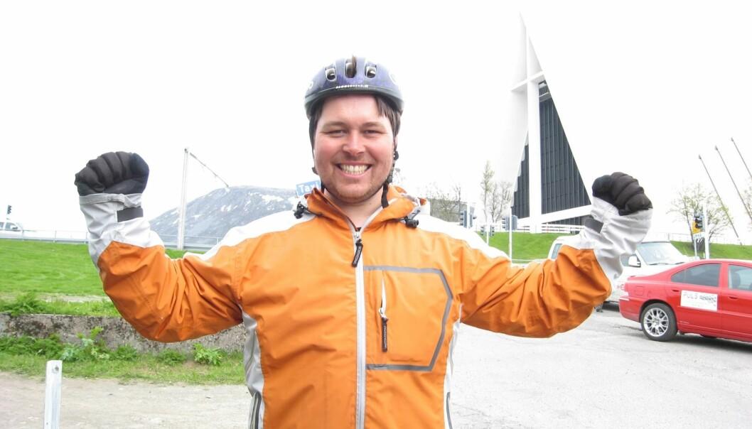 <strong>JEG KLARTE DET:</strong> Etter 22 dager var jeg endelig framme i Tromsdalen. For en opplevelse det hadde vært! Foto: TV2