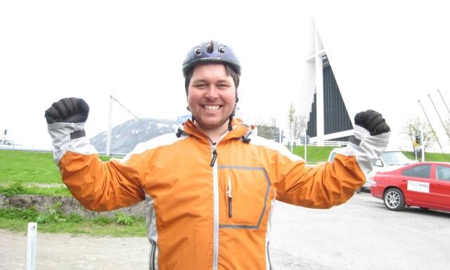 b7632f65 JEG KLARTE DET: Etter 22 dager var jeg endelig framme i Tromsdalen. For en
