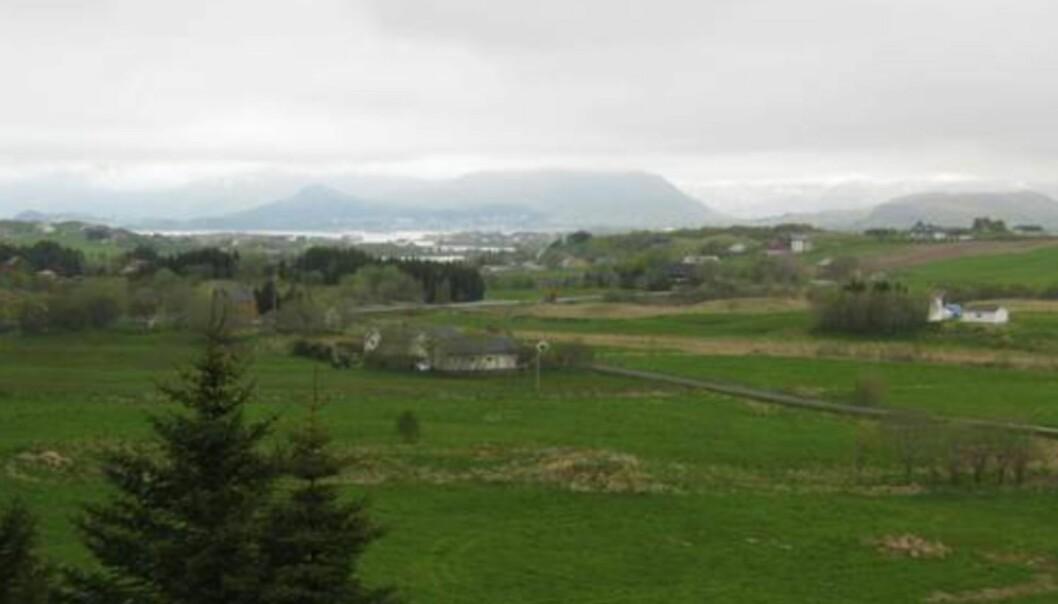 VÆRBITT: Utsikt mot Leknes i Lofoten