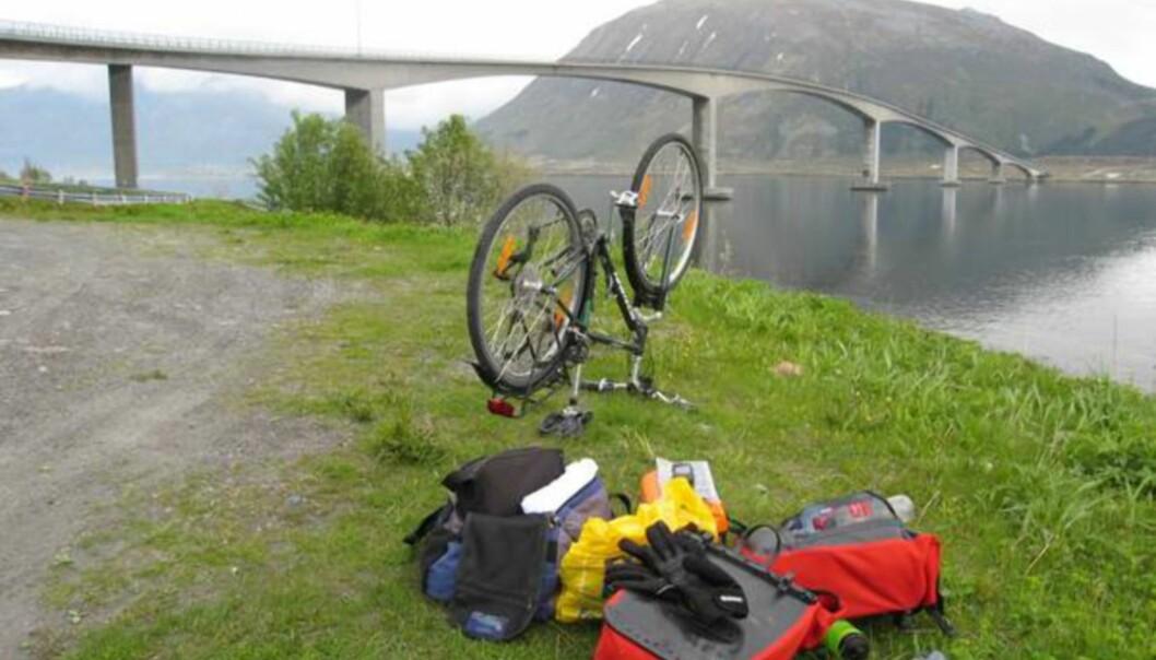 <strong>DET ER BARE ÉN FEIL VED DETTE BILDET:</strong> sykkelen.