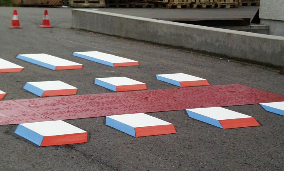 MÅTTE GI OPP: Denne skissen viser hvordan selskapet A-merking så for seg 3D-gangfelt i Norge. Til slutt ga de opp. Foto: A-merking AS