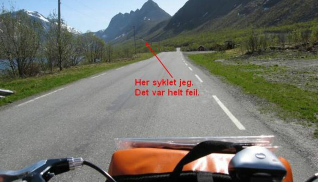 <strong>SE TORSKEN:</strong> Sykler du her, hold til venstre i første kryss. Ikke ta til høyre. Da havner du på en blindvei som ender i Torsken.