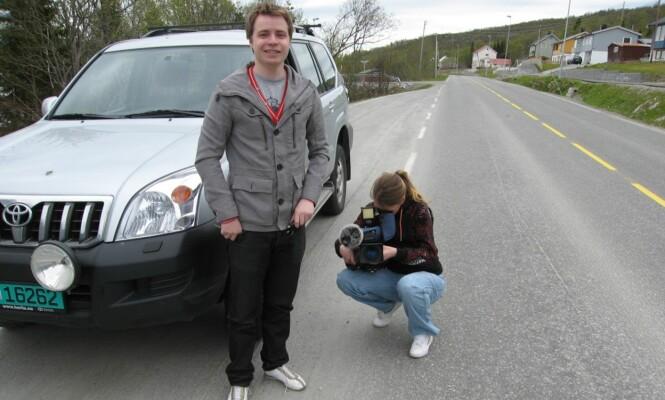 <strong>TV2:</strong> En fotograf og en reporter fulgte meg de siste par milene mot destinasjonen.