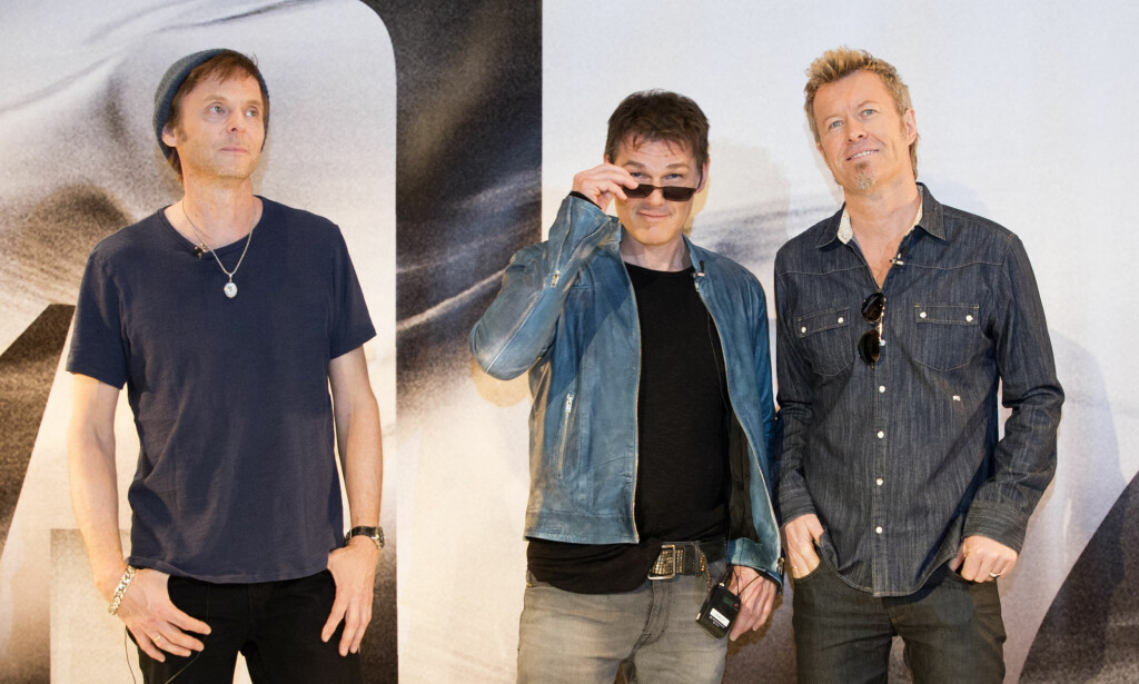 Comeback i 2015: Paul Waaktaar Savoy, Morten Harket og Magne Furuholmen i Berlin. Foto: NTB scanpix