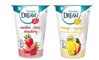 <strong>KOKOSGURT:</strong> Som yoghurt, med base av kokos og mandler.