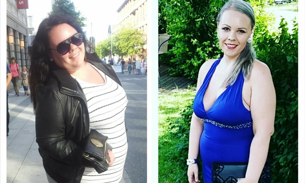 SLANKEOPERASJON: Kristine Fjellestad (27) har gått ned 80 kilo etter at hun ble slankeoperert. FOTO: Privat