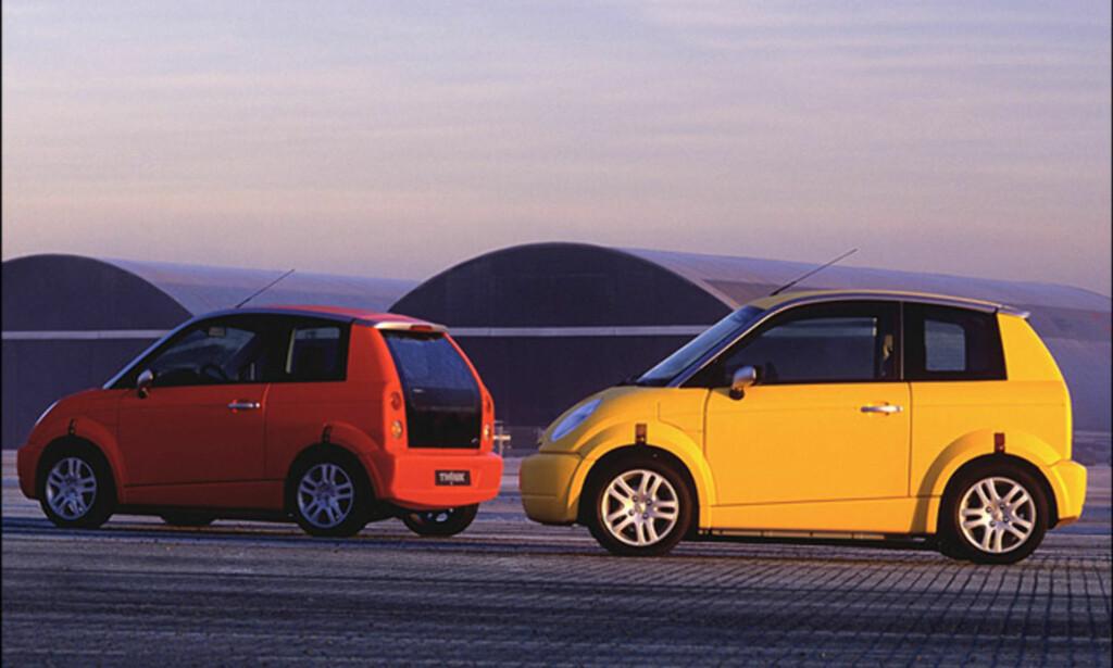 ALTFOR TIDLIG: Mange år før elbil-boomen var et faktum, hadde Think gått konkurs flere ganger. Foto: Think