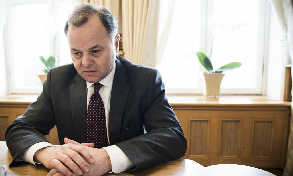 RENTESMELL: Stortingspresident Olemic Thommessen er i hardt vær for byggeprosjektet på Stortinget. Foto: Lars Eivind Bones / Dagbladet