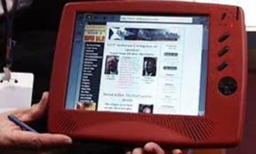 WEBPAD: Cyrix viste frem dette nettbrettet allerede i 1998. Foto: Torvald Kvamme/Dinside