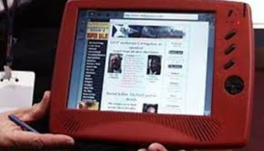 <strong>WEBPAD:</strong> Cyrix viste frem dette nettbrettet allerede i 1998. Foto: Torvald Kvamme/Dinside