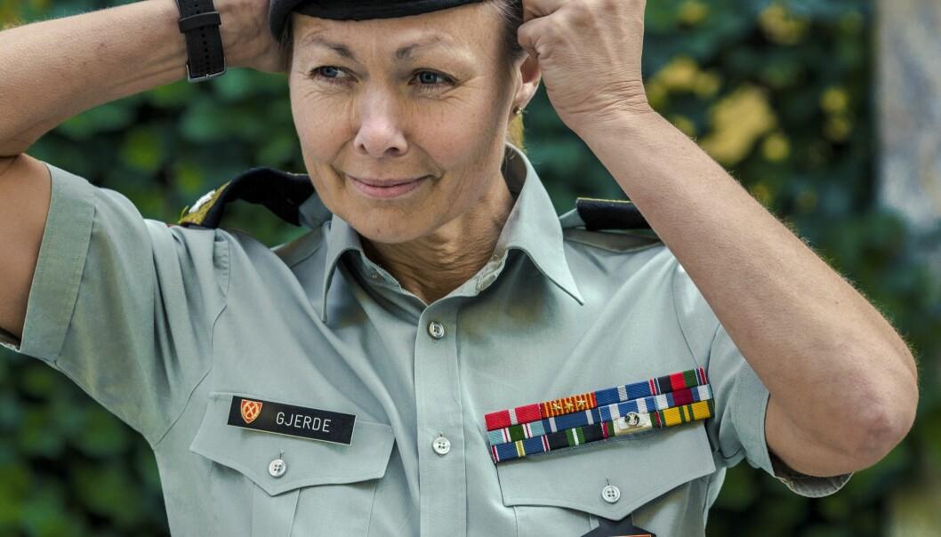 KVINNE I FORSVARET: Ingrid Margrethe Gjerde er stabssjef for hæren og har tittelen brigader. Foto: Astrid Waller