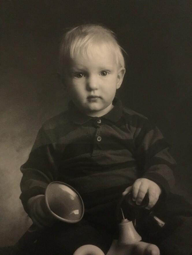HOCKEY-STJERNE: Erik Follestad i 1990. Foto: Privat