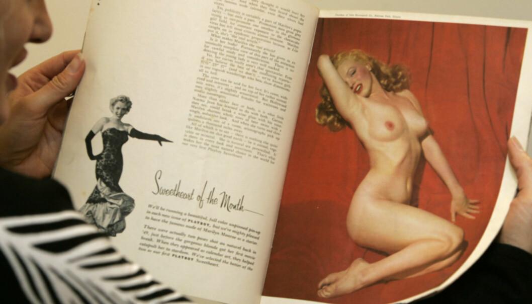 <strong>SKAMMET SEG:</strong> Da Marilyn Monroe dukket opp naken i Playboy i 1953, var det i form av bilder hun hadde tatt som ung og pengelens. Foto: Alastair Grant/ AP/ NTB scanpix