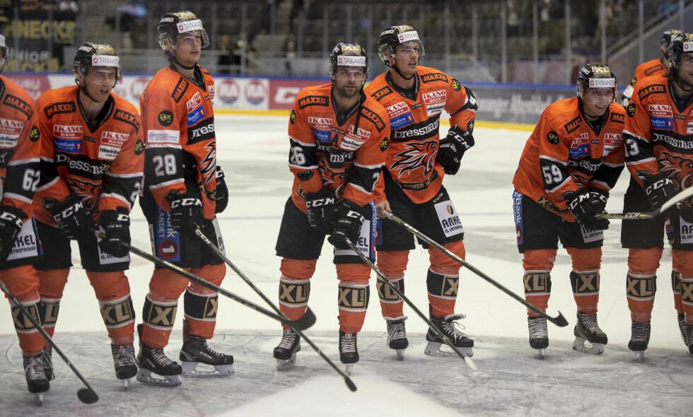 VANT: Frisk Asker vant 2-1 mot Stavanger etter straffer. Her fra en tidligere kamp. Foto: Carina Johansen / NTB Scanpix