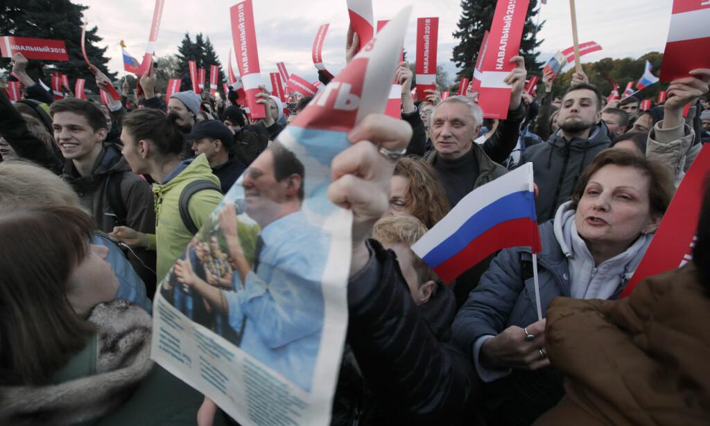 ST. PETERSBURG: Opposisjonen vant slaget om Russlands nest største by. Uten at det hjalp. Foto: AP / NTB Scanpix