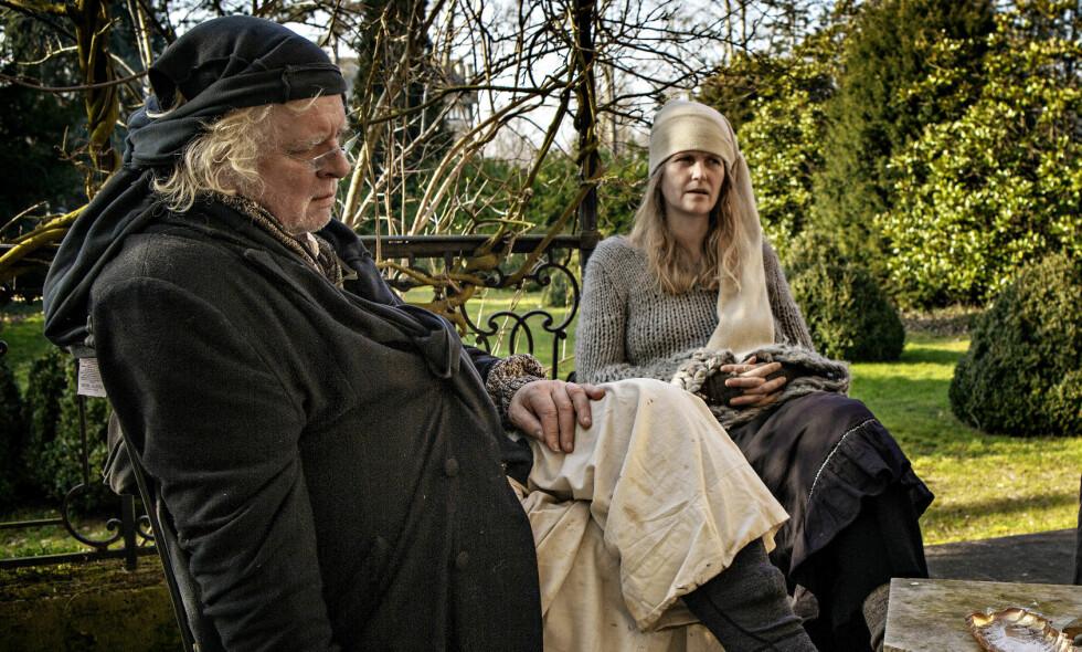 BENÅDET: Kunstner Odd Nerdrum er benådet av Kongen i statsråd. Her med kona Turid Spildo i Frankrike i 2013. Foto: Jørn H. Moen / Dagbladet