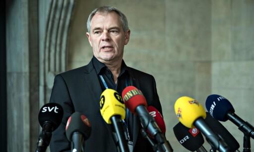 FANT HODE OG BEN: Visepolitiinspektør Jens Møller Jensen under en pressekonferanse i København 7. oktober. Foto: NTB Scanpix