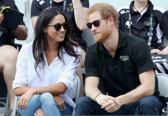 KAN BLI PRINSESSE: Prins Harry og hans kjæreste Meghan Markle. Hun kan en dag bli prinsesse dersom hun gifter seg med Harry. Foto: AFP/ NTB scanpix