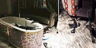 image: De stormet massedrapsmannens hotellrom. Nå snakker de: - Han blødde fra ansiktet