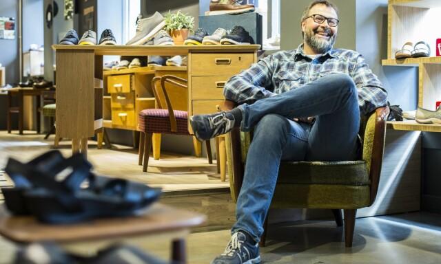 bc8d4eb7a0a HÅVER INN: Sverre Klouman kan glede seg over at skokjeden gjør det godt i et