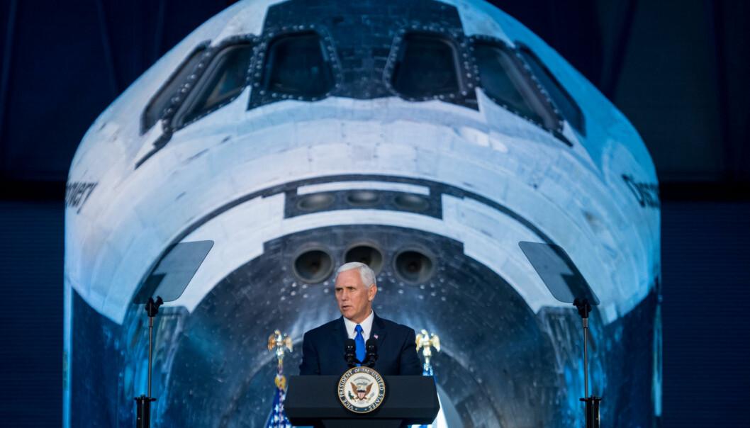 <strong>TIL MÅNEN:</strong> - Vi vil sende NASA-astronauter til Månen igjen, sa den amerikanske visepresidenten Mike Pence forrige uke. Foto: NASA / Joel Kowsky