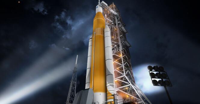 Space Launch System Illustrasjon: Nasa