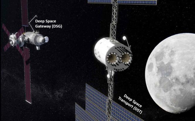 Deep Space Gateway & Deep Space Transport Illustrasjon: NASA