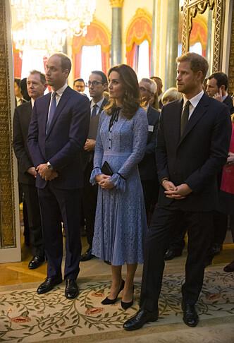 VENTER SITT TREDJE BARN: Hertuginne Kate forbereder seg for tiden på å bli mamma for tredje gang. Foto: NTB Scanpix