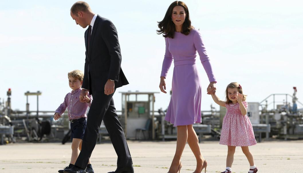 UTVIDER FAMILIEN: Prins George og prinsesse Charlotte får snart en ny bror eller søster. Foto: NTB Scanpix