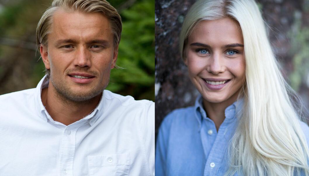 NYTT «FARMEN»-PAR?: Mats Beylegaard Brennemo (28) og Amalie Snøløs (21), begge fra årets «Farmen», har delt flere «romantiske» tv-stunder sammen de siste ukene. Foto: Alex Iversen / TV 2