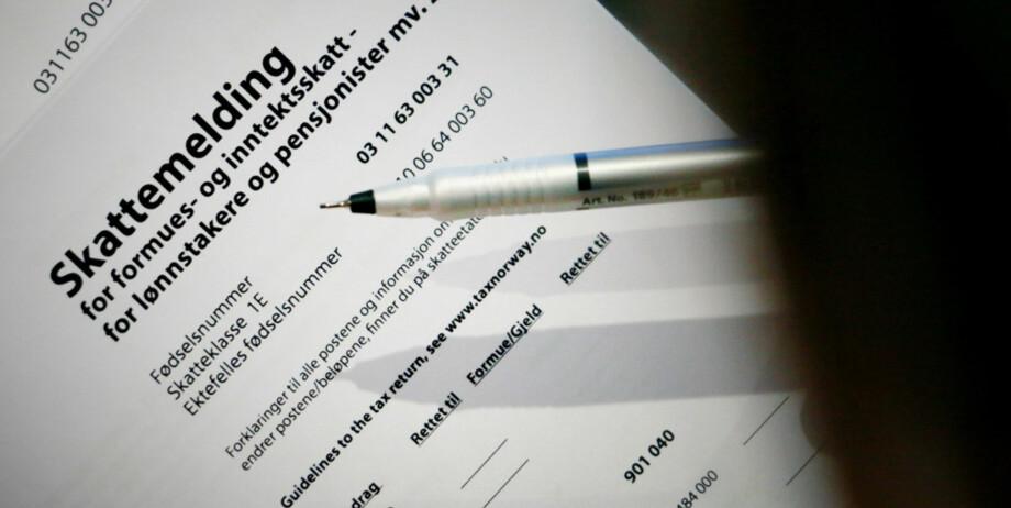 SKATTEKLASSE: Hvilken skatteklasse du lignes i, står i skattemeldingen. Nå ønsker regjeringen å fjerne skatteklasse 2. Foto: Ole Petter Baugerød Stokke