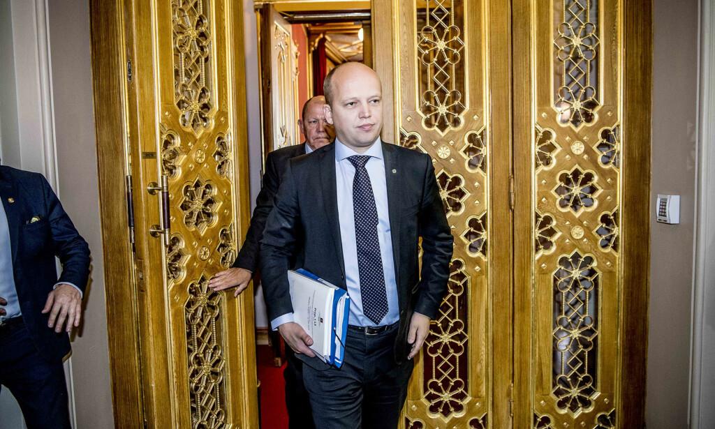 SØRGELIG: Det sier Sp-leder Trygve Slagsvold Vedum om distrikspolitikken i statsbudsjettet. Foto: Thomas Rasmus Skaug / Dagbladet
