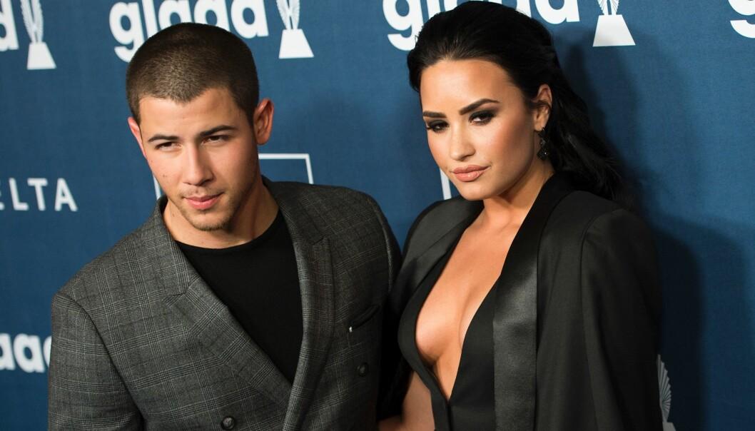 <strong>GODE VENNER:</strong> Nick Jonas og Demi Lovato er gode venner, og kjenner hverandre fra «Camp Rock»-dagene. Hun har også hatt et kortvarig forhold til hans eldre bror, Joe Jonas. Foto: NTB scanpix
