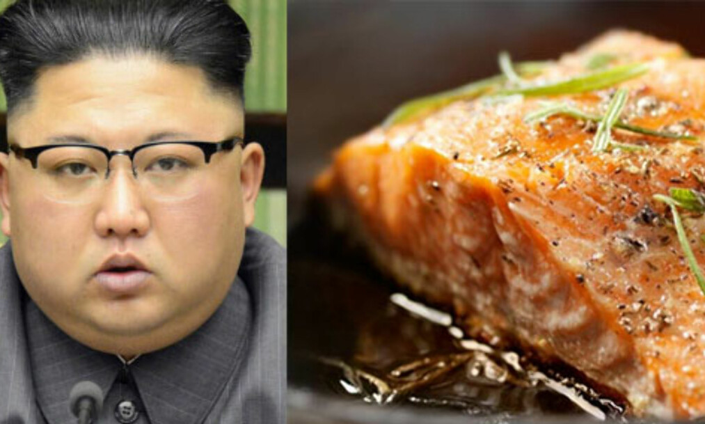 INGEN GLAD LAKS: Kim Jong-uns regime skal ha tjent milliarder via arbeiderne som har bearbeidet laks solgt i USA. Foto: NTB Scanpix