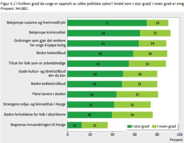 image: Rapport: Kampen mot rasisme og fremmedfrykt opptar ungdom mest
