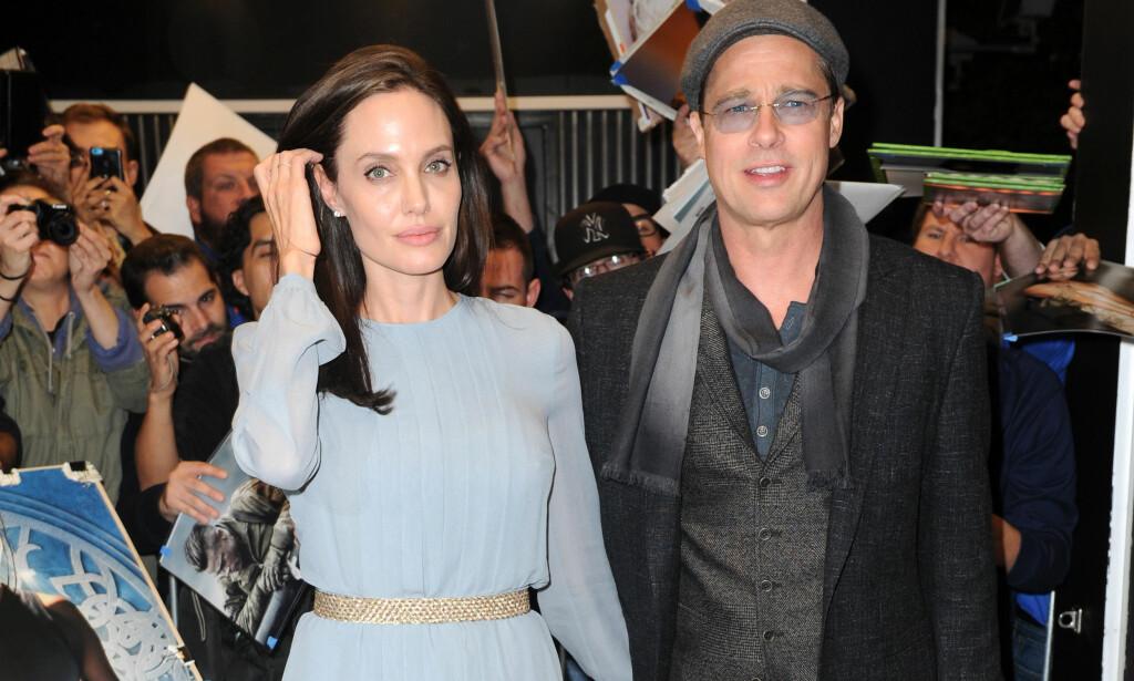 SER RØDT: Angelina Jolie skal være lite imponert over ektemannen som skal ha møtt ekskona Jennifer Aniston flere ganger. Foto: Splash News/ NTB scanpix