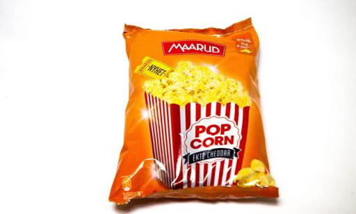 Gode popcorn, men ingen ost.