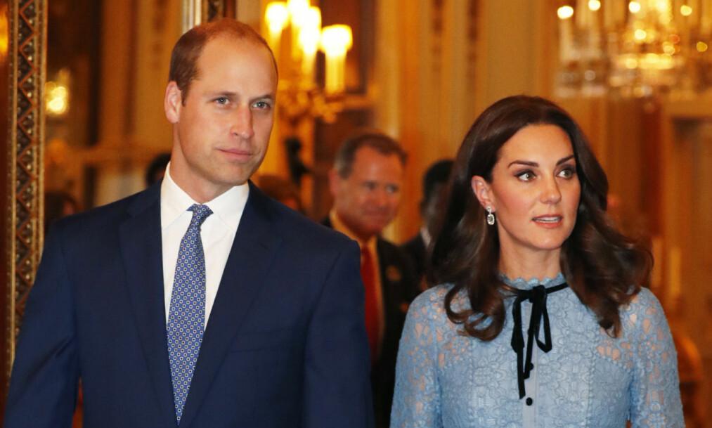 TIL NORGE: Prins William og Hertuginne Kate kommer til Norge neste år. Foto: NTB Scanpix