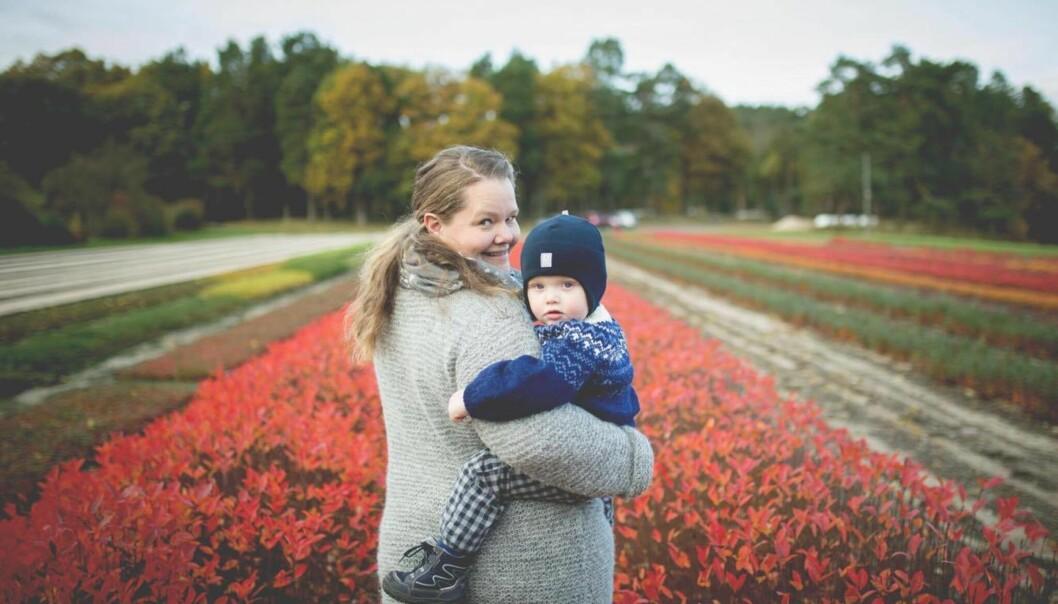 IVF BEHANDLING: Etter seks år som prøvere valgte Cecilie og Audun til slutt IVF behandling og har i dag sønnen Samuel August. Foto: Fotograf Sundsvold
