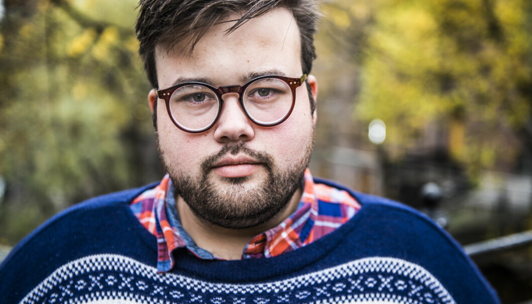 PÅ SYKEHUS: Jørgen Foss forteller at han ble brutalt overfalt og ranet i USA. Han ble fraktet til sykehus etter hendelsen. Foto: Endre Vellene