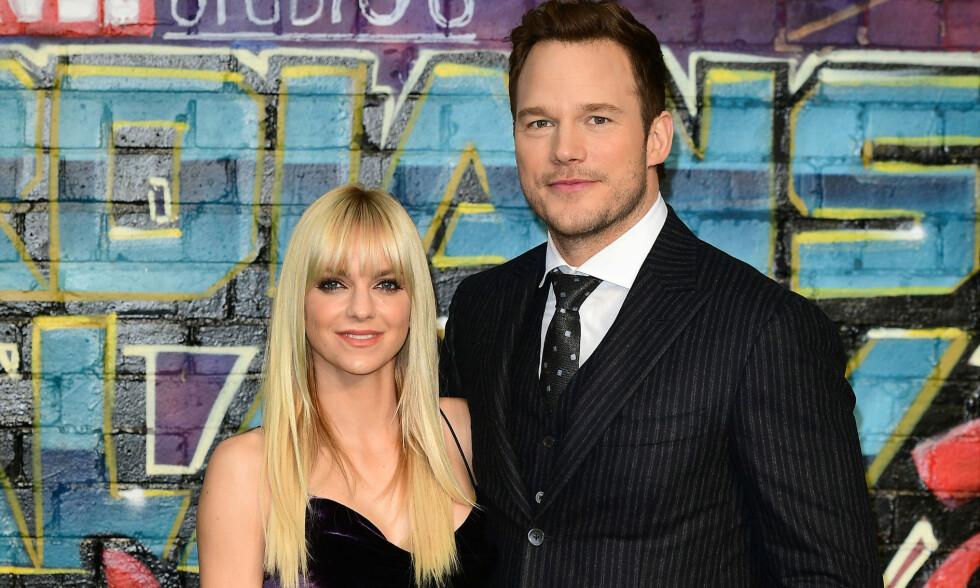 SLUTT: For to måneder siden avslørte skuespillerparet Anna Faris og Chris Pratt at de gikk hver til sitt. Foto: NTB Scanpix