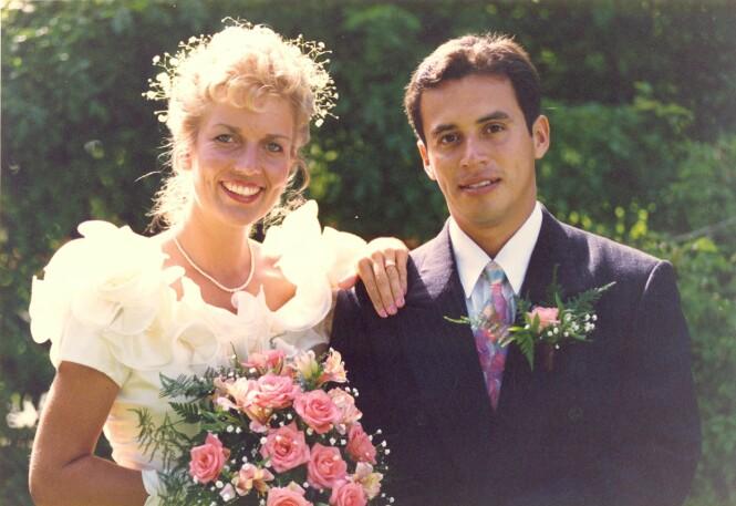 GIFTET SEG I 1995: Miriam møtte Alexis i Honduras, og ble utrolig fascinert. I dag har de to barn sammen. FOTO: Privat