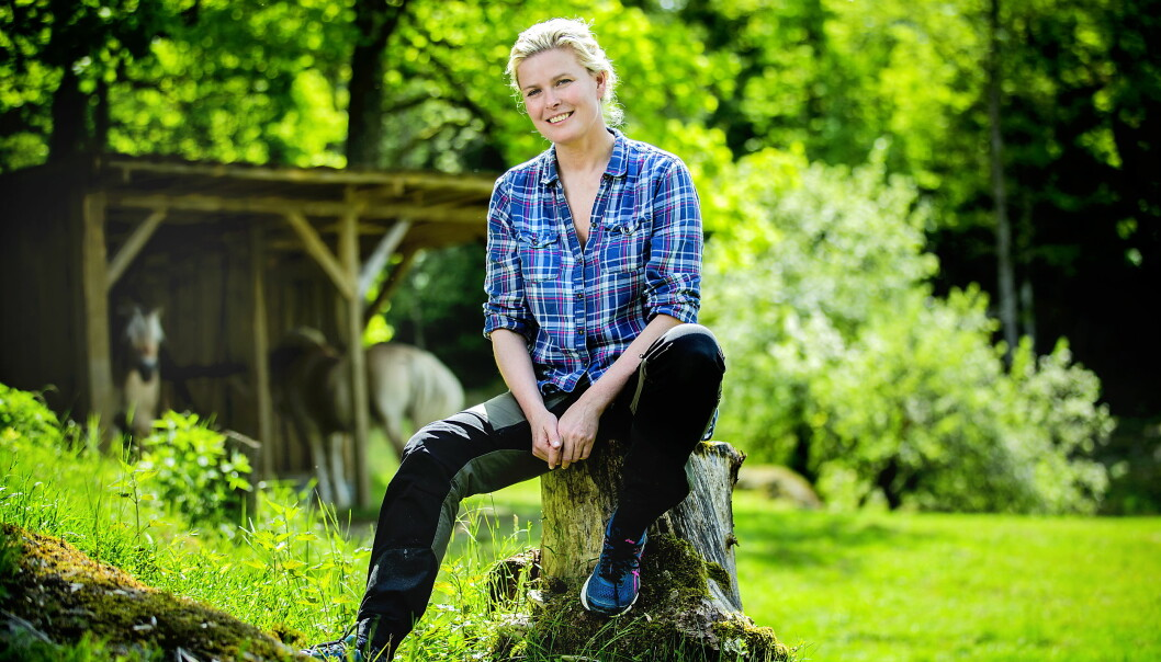 <strong>NY BOK:</strong> Vendela Maria Kirsebom er ute med selvbiografi. Her fra da hun var med i «Kjendisfarmen». Foto: Bjørn Langsem