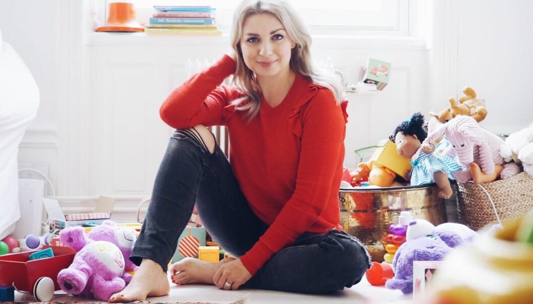 HJEMMEVÆRENDE MOR: Claudia Galli Concha har valgt å være hjemme med barna sine, i stedet for å sende dem i barnehagen. FOTO: Privat