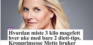 image: Mette-Marit og VG misbrukt i slankereklame